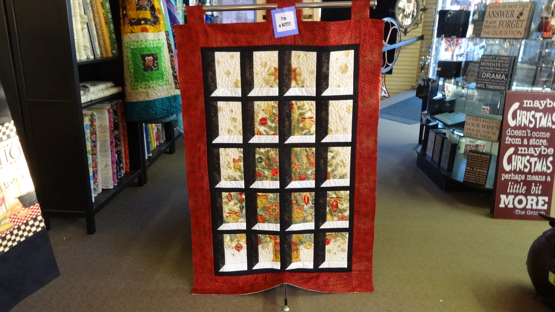 Panel Windowpane Quilt Kit | Craig's : window pane quilt pattern free - Adamdwight.com